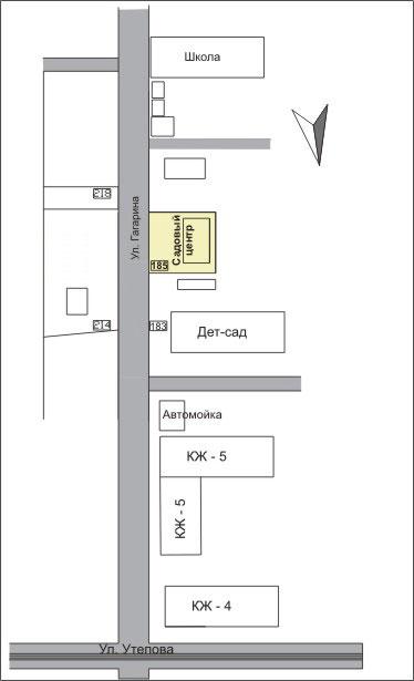 Схема проезда гагарина