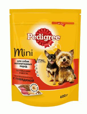 Педигри для взр. собаки мини п. говядина 600 г/10