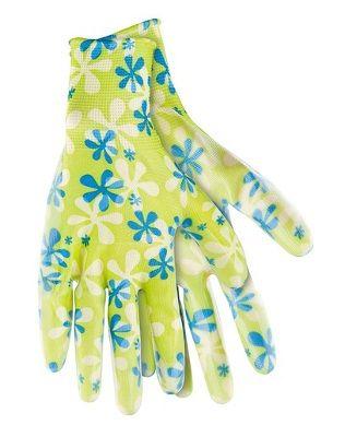 Перчатки садовые из полиэстера с нитриловым обливом, зеленые S/ PALISAD 67741