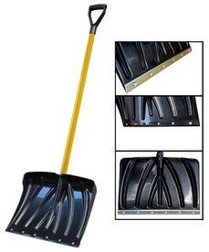 Лопата для снега HF-085G, W45 см*Н32 см черный черенок