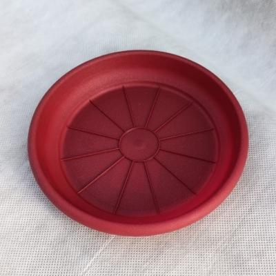 Поддон Гала 14 см для горшка Корал 13 см, красный металлик
