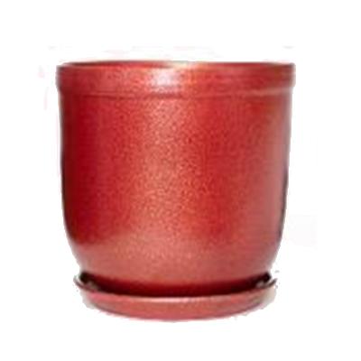 Цветник 7,0 л 142-4, красная глина, бордо,  h=28 d=25