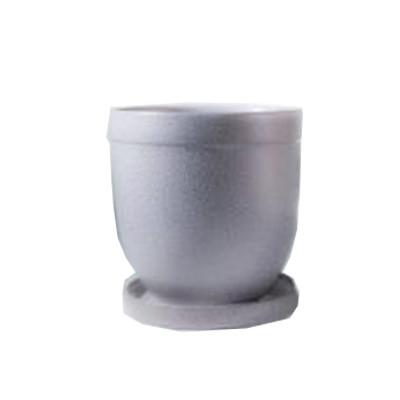 Цветник 2,0 л 109а-4, красная глина, серебро на белом,  h=16.5 d=18.5