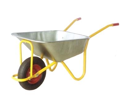 Тачка садовая WB6404H (одноколесная желтая)