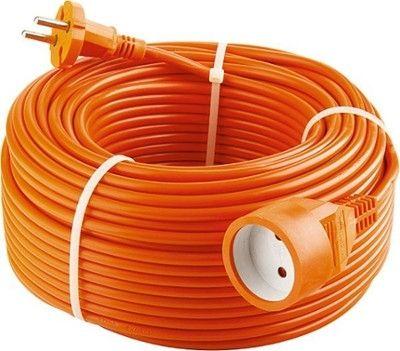 Удлинитель-шнур силовой с защитными шторками 2*1мм*30м, 1 прорезиненная розетка, 10А, STERN 95712
