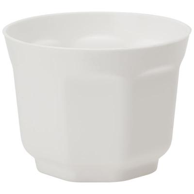Горшок восьмигранный Ancona 8cм, белый