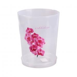Горшок цв. для орхидеи 3,5 л. с под. прозрачный (уп. 20) М1606