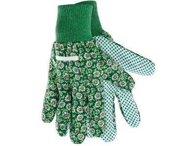 Перчатки садовые х/б ткань с ПХВ точкой, манжет, S/PALISAD 67761