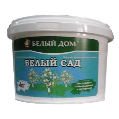 """Побелка водоэмульсия """"Белый сад"""" 4 кг. для покраски стволов деревьев и кустарников"""