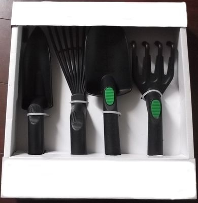 Набор садовый пластиковый (4 пред. лопатка, тяпка, вилка, рыхлитель) HF212989